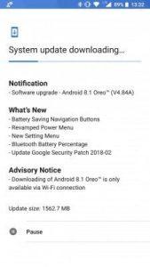Actualización Nokia 8 a Android 8.1