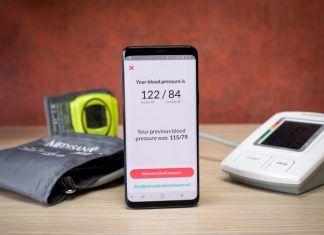 App Galaxy S9 para medir presión arterial
