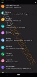 Android Q Modo nocturno